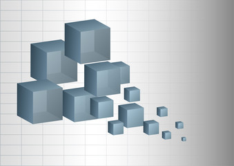 Abstract background 3d cubes.
