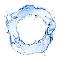 round water splash isolated on white