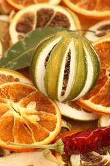 Spoed Foto op Canvas Plakjes fruit Potpourri