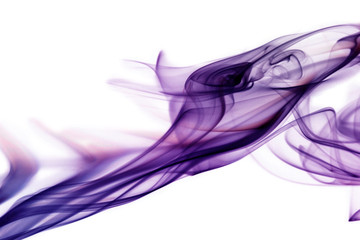 Purple smoke in white background