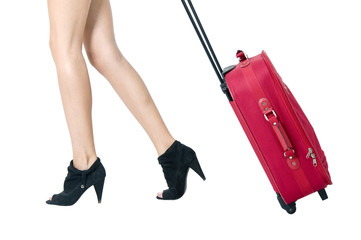 Legs and red bag