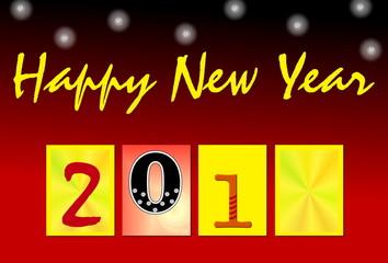 Happy New Year (mit leerem Kästchen für beliebige Ziffer)