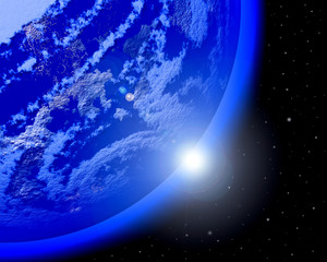 Wall Mural - Blue planet