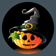 pumpkin Jack in hat