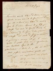 Vecchia lettera di Paolina Bonaparte