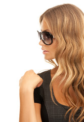 woman in shades