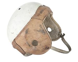Vintage Leather Football Helmet