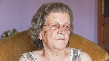 Senior woman smiling in home - Grandmother