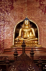Beautiful golden Buddha image