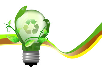 Abstract bulb for saving energy