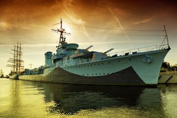 Türaufkleber Schiff Warship