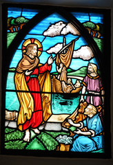 Stained glass window on Herm