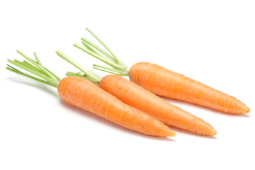 Carrot vegetable on white
