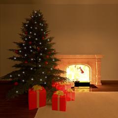 Natale e caminetto