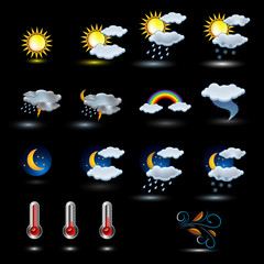 Weather icon vector set vector