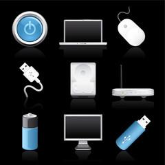computer premium icons on black