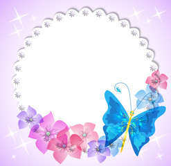 Magic background with flowers