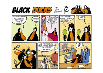 Fotorolgordijn Comics Black Ducks Comic Strip episode 57