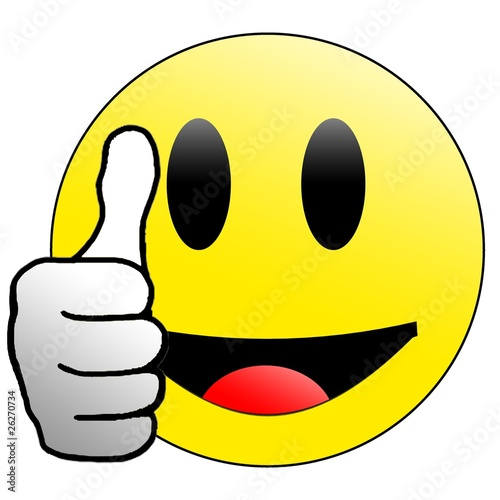 lachender Smiley Daumen hoch Stock photo and royaltyfree images