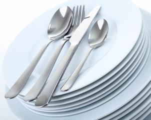 Fototapeta assiettes et couvert obraz