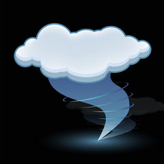 tornado cloud icon vector