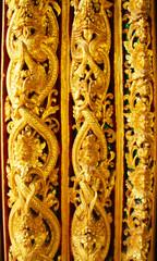 Tradition thai art on window