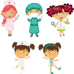 Girls in Various Designations