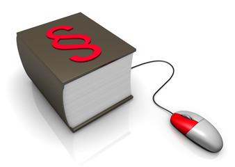 Gesetzbuch mit Maus