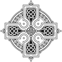 Vector celtic cross traditional ornament