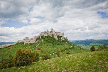Wall Murals Northern Europe Spissky hrad castle in Slovakia,UNESCO world heritage listed mon