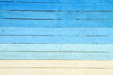 Fond bois peint en bleu