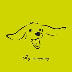 logo entreprise, chien