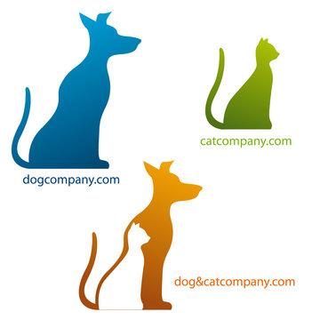 logo entreprise, chien et chat