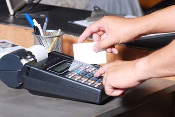charging credit card machine