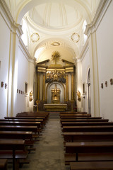Interior of the Cathedral of Alcala de Henares, arches and dome