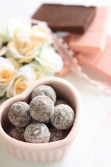 Homemade Truffe and Ingredient's chocolate