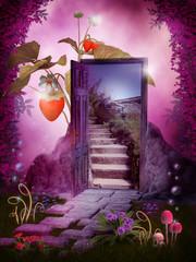 Obraz Magiczny ogród - fototapety do salonu
