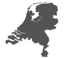 Karte der Niederlande - freigestellt
