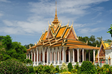 Cambodia - Royal Palace in Phnom Penh, Golden pagoda