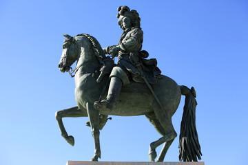 Louis XIV's statue