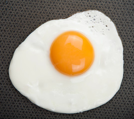 Fond de hotte en verre imprimé Ouf fried egg over pan