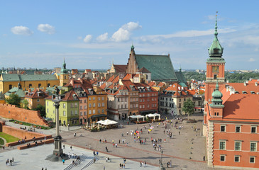 Fototapeten Schloss Warsaw's Old Town