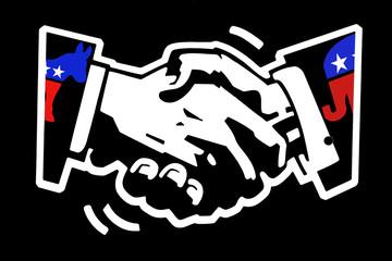 handshake democrat and republican