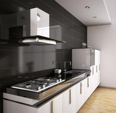 Modern Küche interior 3d