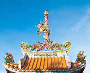 dragon on the roof in China temple