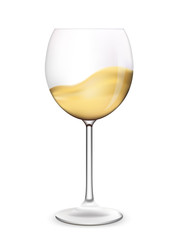 Wine glass vector illustration.