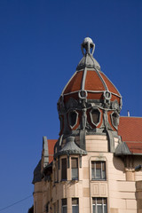 Tower of an old house in Szeged