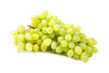 Bunch of white grapes.