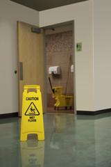 Restroom Mop Safety