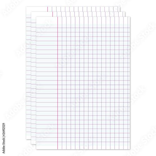 Feuilles carreaux fichier vectoriel libre de droits for Feuille a carreaux